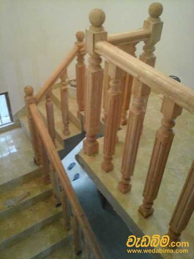 Wood Finished Staircase